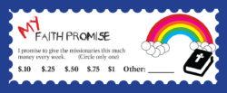 Faith Promise Card - Kids 1 - Back