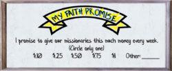 Faith Promise Card - Kids 2 - Back